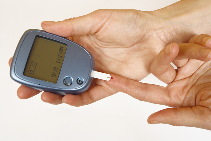 checking blood sugar